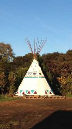 Decorated Native American Tipi