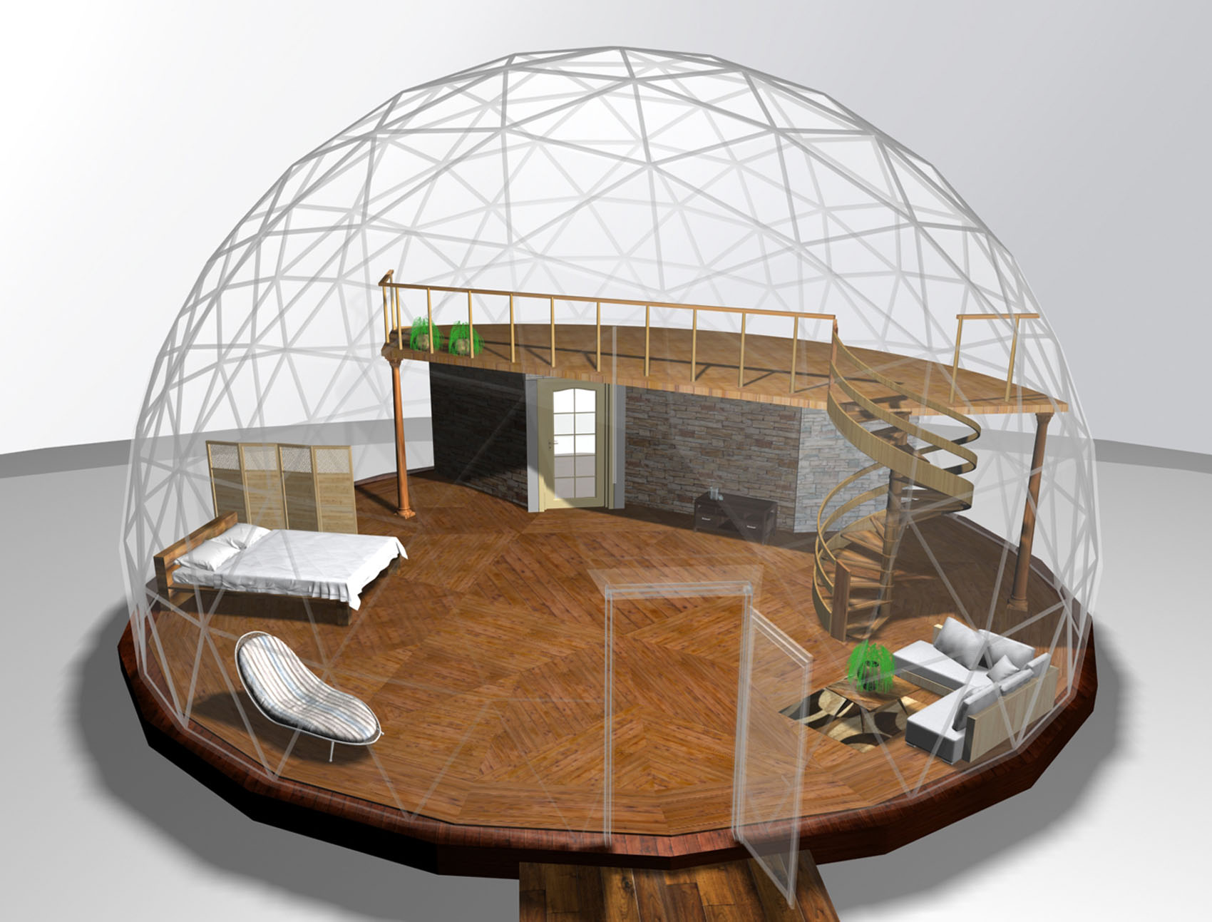 36' dome with king size bed