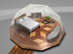 16' dome with queen size bed