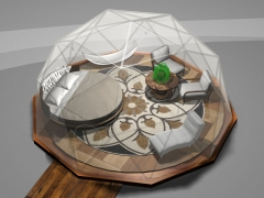 16' dome with round bed & hammock