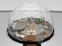 20' dome with round bed & hammock
