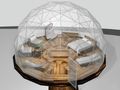 24' dome with queen size bed