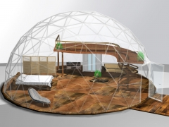 30' dome with king size bed