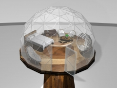 20' dome with queen size bed