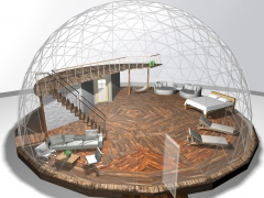 60' dome with king size bed