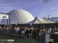 Pacific Domes at Coachella Music Festival, 120' dome