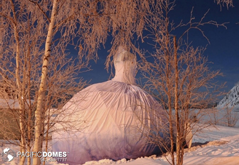 performing arts, yukon, dome style shelter