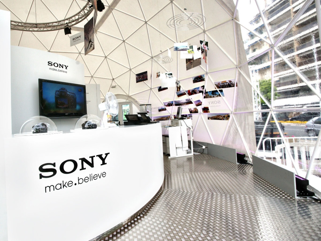 pacific domes and sony event tents for corporate marketing events