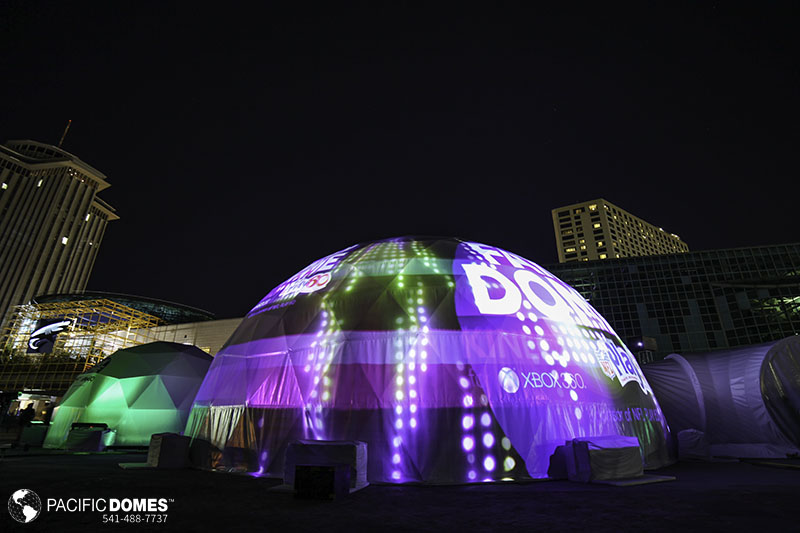 tent theaters, projection tent theaters, pacific domes