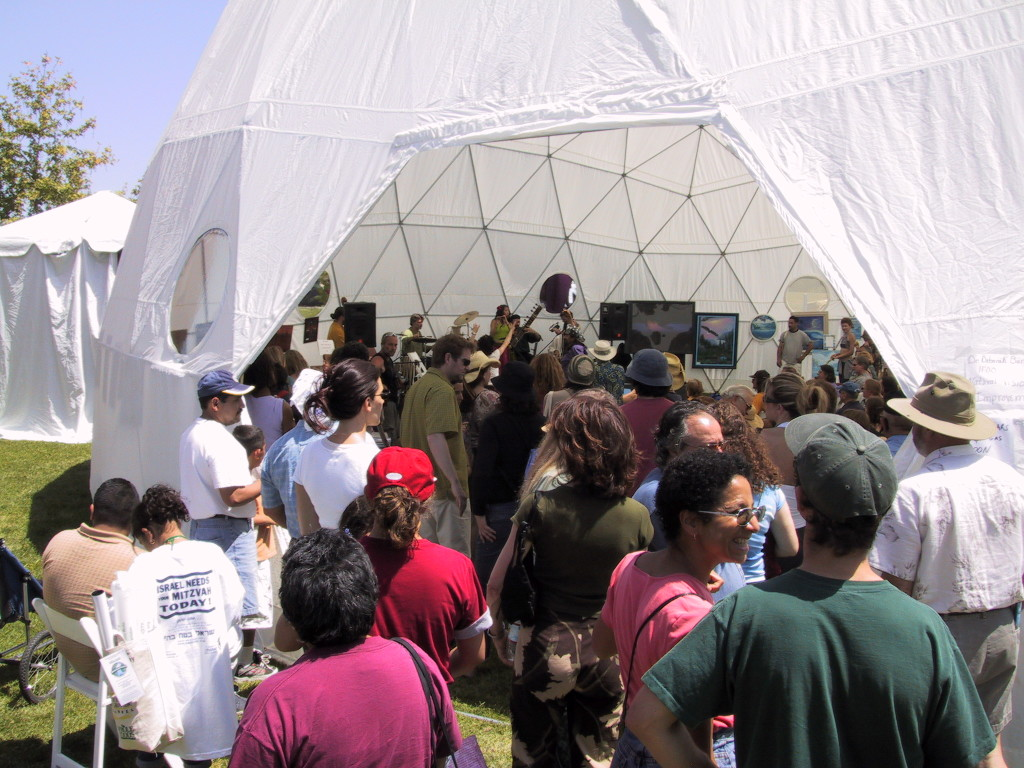 Whole Earth Festival Dome. Pacific Domes Festival Dome Tent and outdoor event tent. Shelter dome