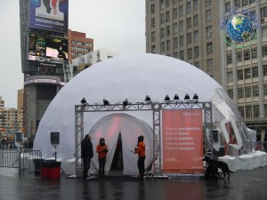 44ft dome black chalk marketing office 5
