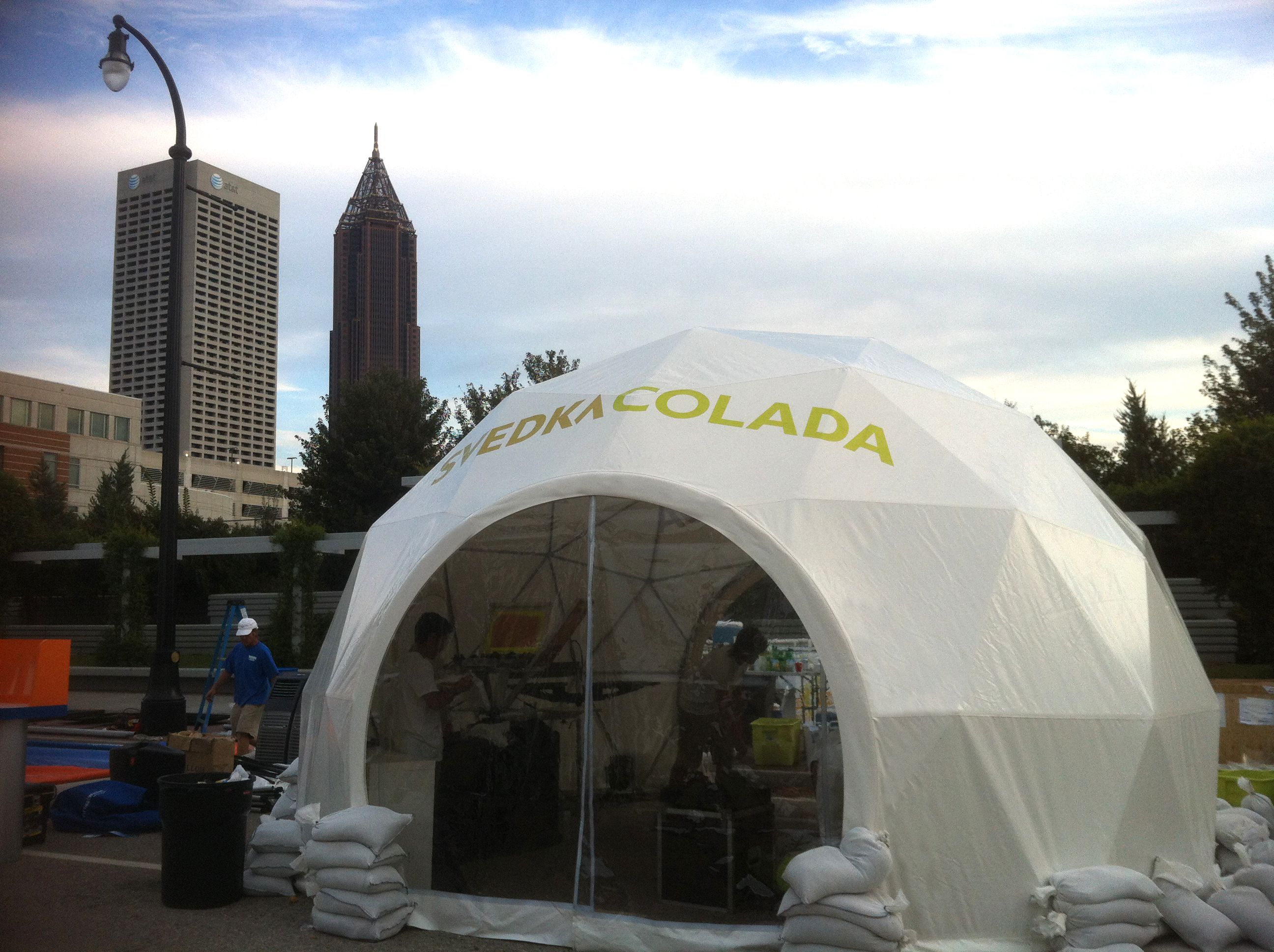 20ft dome door branding taste atlanta svedka