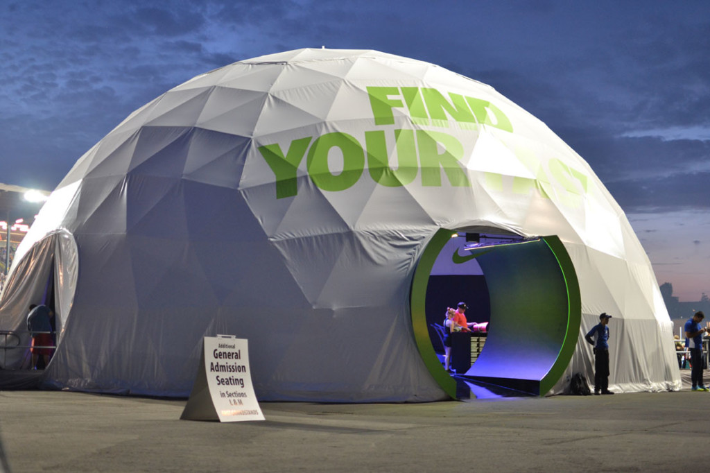 Event Dome Tents for Sale - Nike Corporate Event Dome Outside