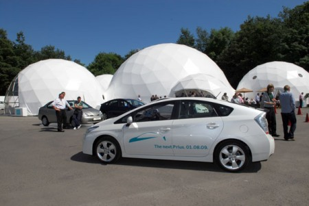 Pacifc Domes Geodesic Event Tents - Prius UK Launch