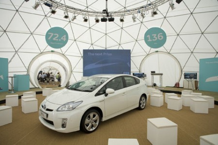 Pacifc Domes Geodesic Event Tent - Prius UK Launch