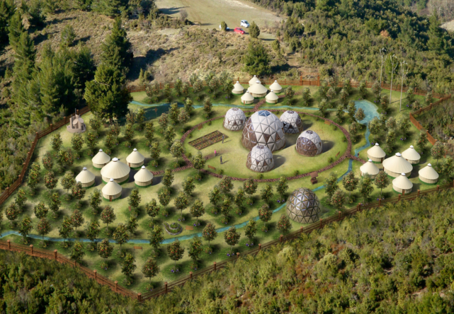 Intentional Community. Telaithrion. Greece. Geodesic Dome