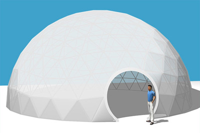 Geodesic Dome Tents Used for Outdoor Event
