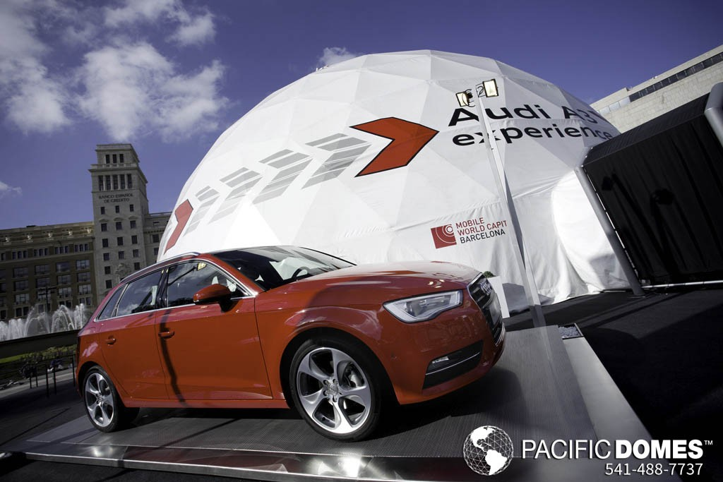 Printed Event Tent for Audi Motors by Pacific Domes