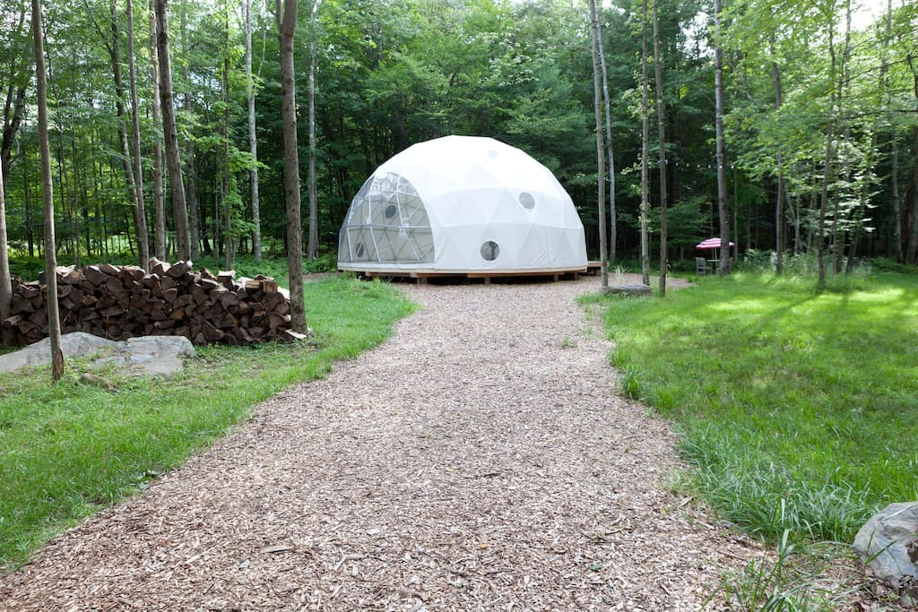 AirBnB Dome Home Rental by Pacific Domes