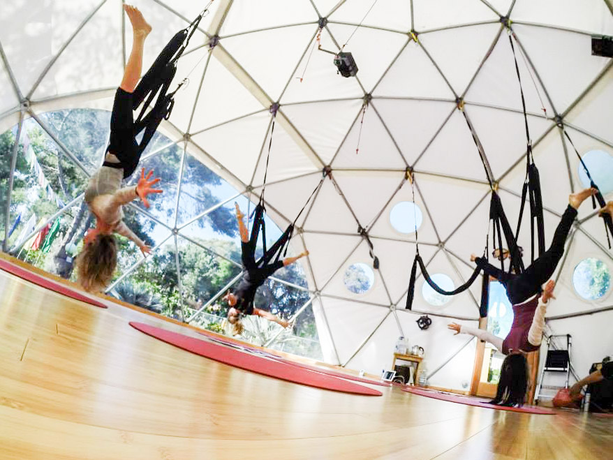Yoga-Pacific Domes-8 - Domed Studio Tents for Rent