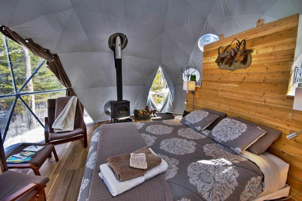 glamping resort shelter, portable shelter, glamping dome, dome home