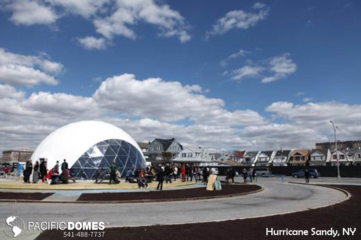 Hurricane Sandy Relief Dome, portable geodome tents, portable dome tents, emergency relief efforts, disaster prepardness, emergency prepardness, deployable shelters, medical geodome tentsPacific Domes