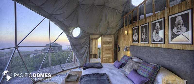 geodesic dome base camp