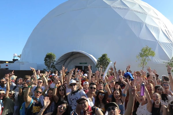 Pacific Domes 120ft Dome at Cochella 2017