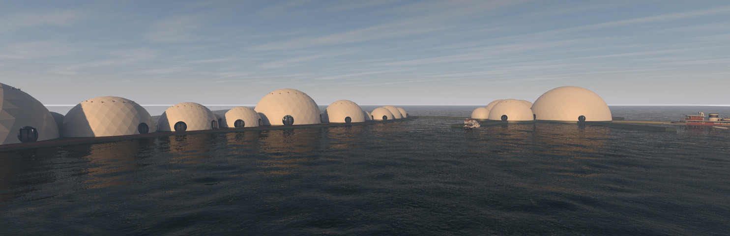Floating Domes