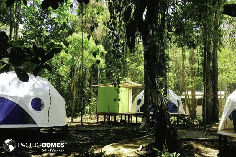 glamping domes resort, pacific domes