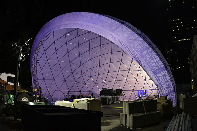 Amphitheater Domes Curtains Up For The World S Largest
