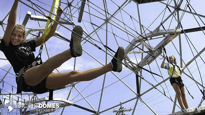 Kids GeoDome Ropes Course