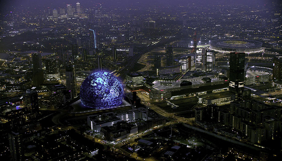 MSG Projection Sphere London