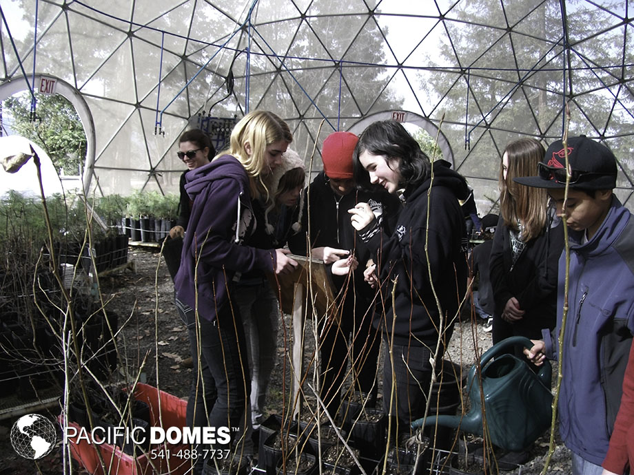 learning gardens, nature education domes