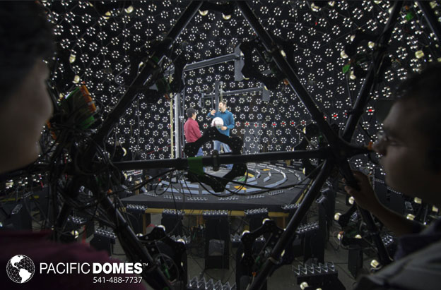 lighting for film or tv, geodesic dome, USC dome