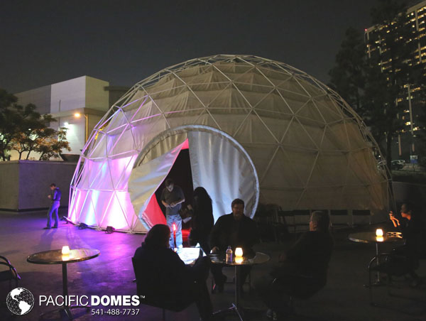 2018 Los Angeles Times Festival of Books, full dome projection theater