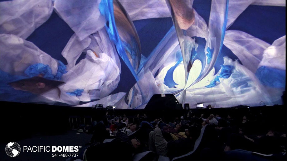 2018 LA Times Festival of Books, multimedia show projection, immersive art installation