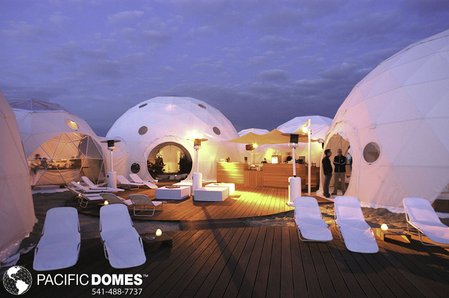 how to set up a glamping resort, pacific domes