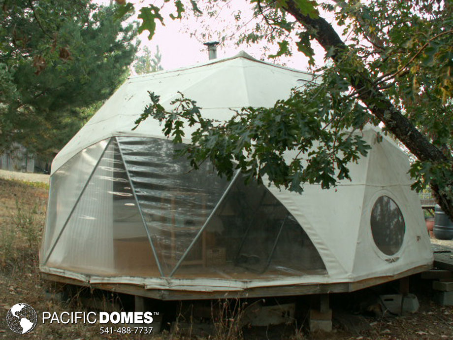 living in a dwell dome, tiny home