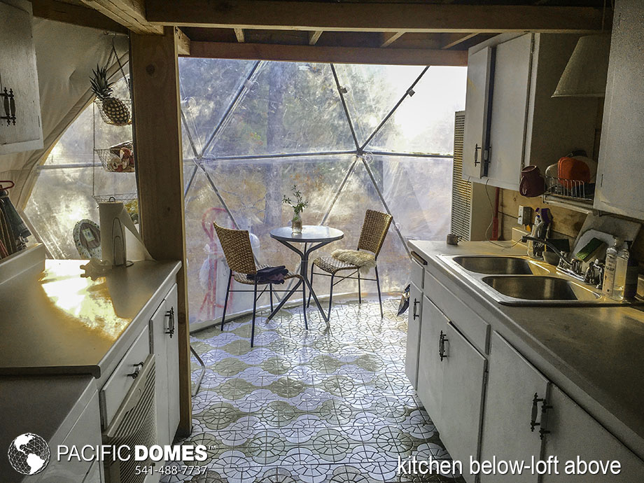 dome home, dwell dome, dome kitchen