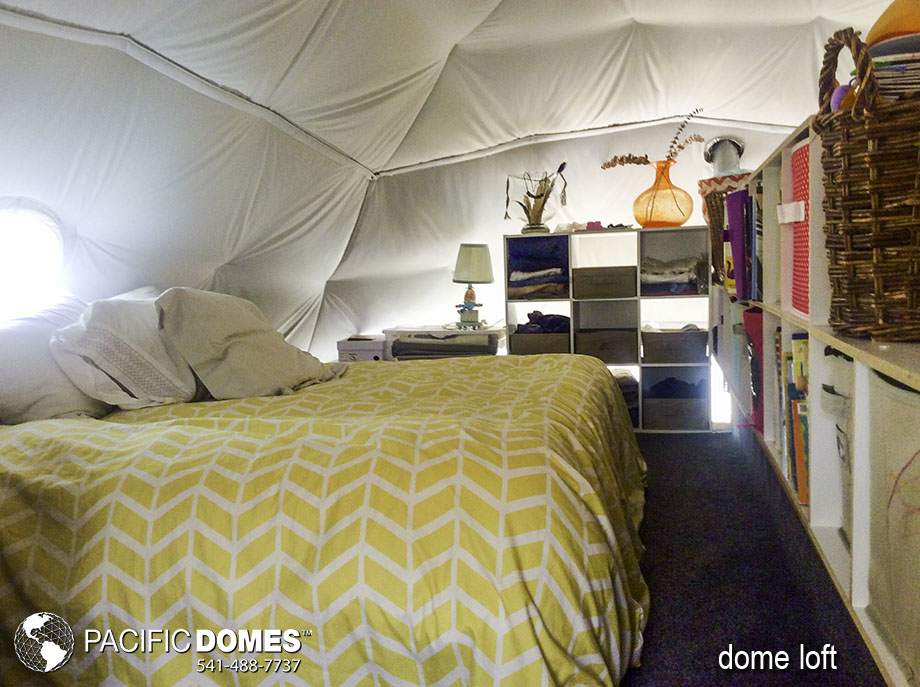 dome home, dome bedroom, custom dome
