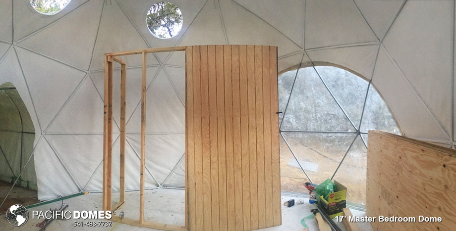 connected domes, 17' dome, tiny house, dome room