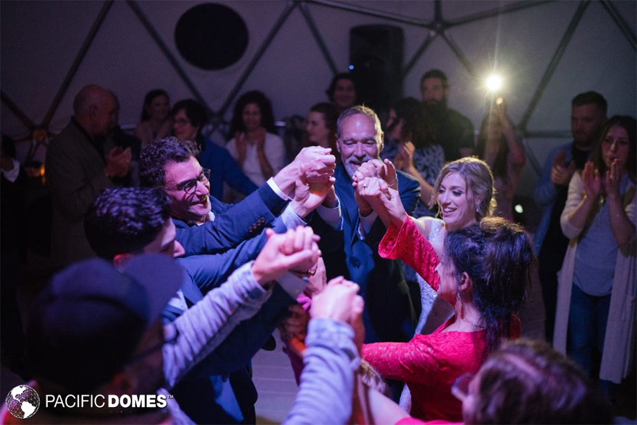 event dome, geodesic domes, wedding in a geodesic dome,