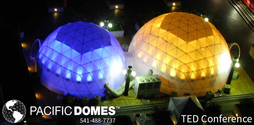 Pacific Domes, event tents, event domes, TED conference, illumination dome, projection theater, projection theatre, VR sphere