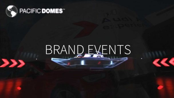 Event Dome, Audi, projection dome, immersive, event experience, brand event, Barcelona, Pacific Domes, geodesic dome, dome village
