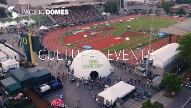 Event Dome, Nike, athletics event, immersive, event experience, cultural event, Pacific Domes, geodesic dome,