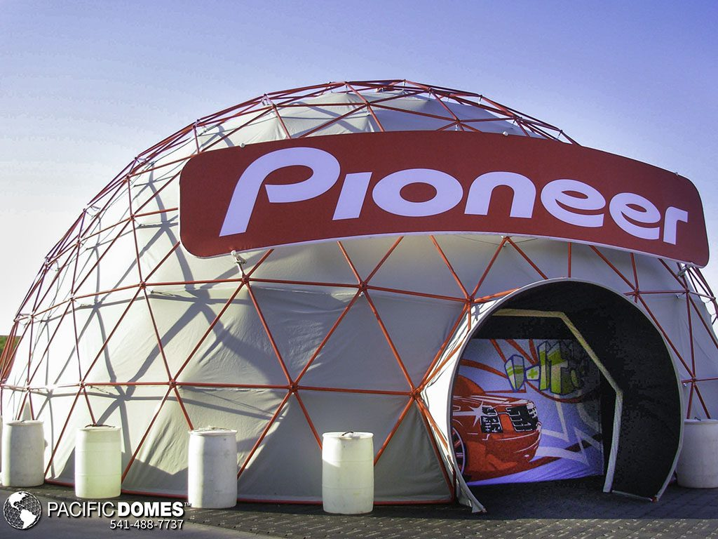 Pacific Domes, event tents, event domes, Pioneer, illumination dome, projection theater, projection theatre, VR sphere