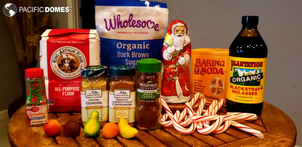 We chose high quality organic ingredients for our gingerbread dough.