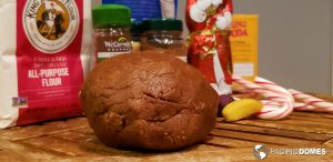 The recipe yields a nice ball of gingerbread dough.