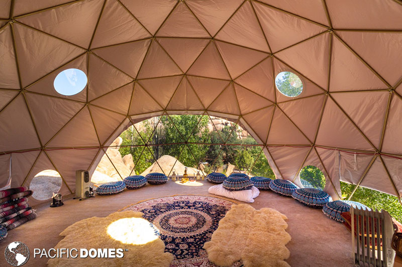 interior of the geodesic dome